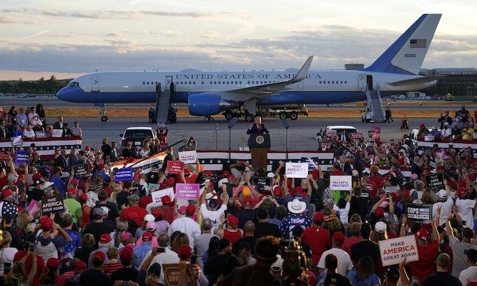 Trump mocks Biden, touts accomplishments in return to N.H.