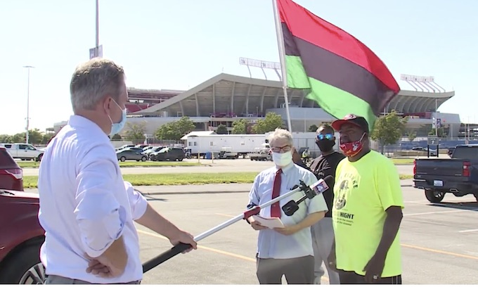 Community activist called on Chiefs to add African American flag to social justice plans