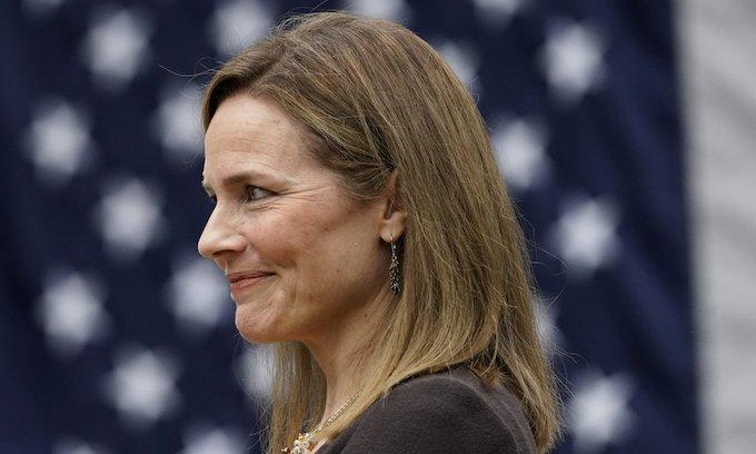 Supreme Court nominee Amy Coney Barrett meets with Senate Republicans