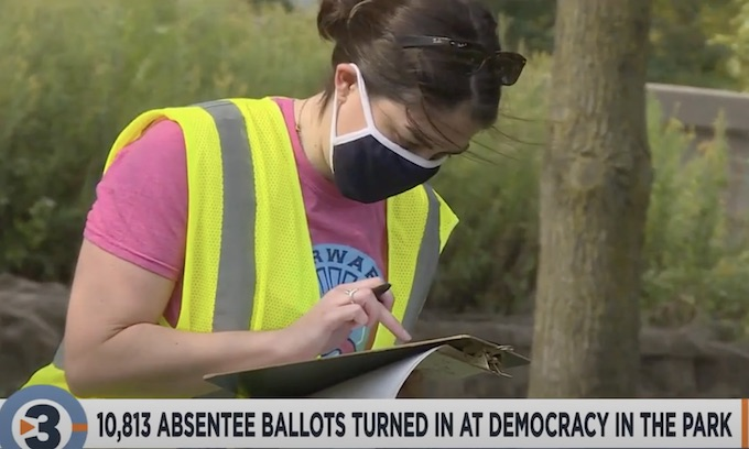 Wisconsin: More than 10,000 presidential election ballots collected during 'Democracy in the Park'