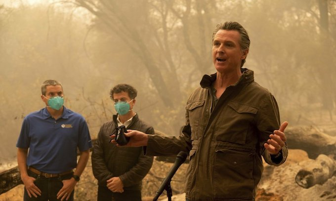 Newsom delivers surreal climate change rant amidst fires
