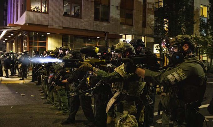 After a pause because of wildfire smoke, rioting resumes in Portland