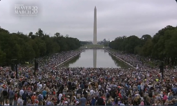 Tens of thousands of Christians converged on DC and trashed the city