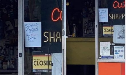 'Speak English or Pay $10 Extra' sign at New Jersey shop sparks outrage