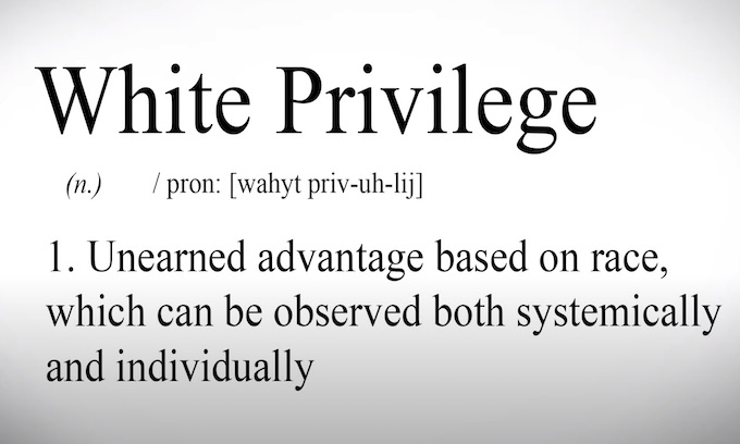 Coming to the classroom: White people and their 'unearned privilege'