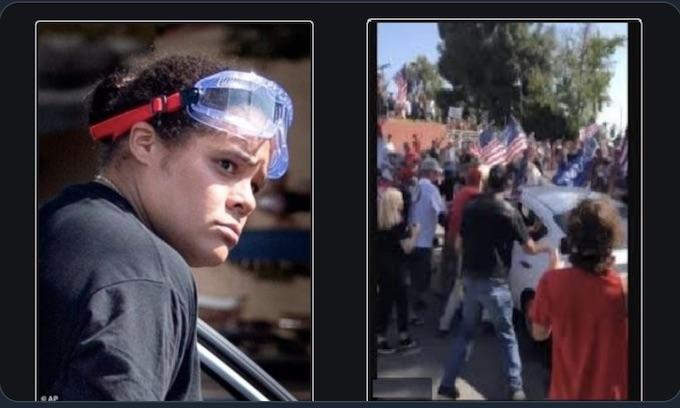 BLM woman drives through Trump crowd injuring 2