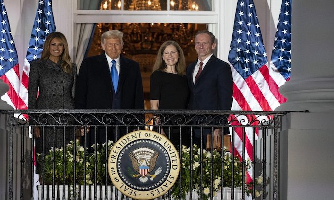 Amy Coney Barrett sworn in as Supreme Court justice at White House