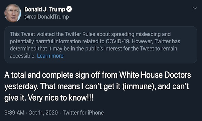Twitter has petty reaction to Trump's tweet!