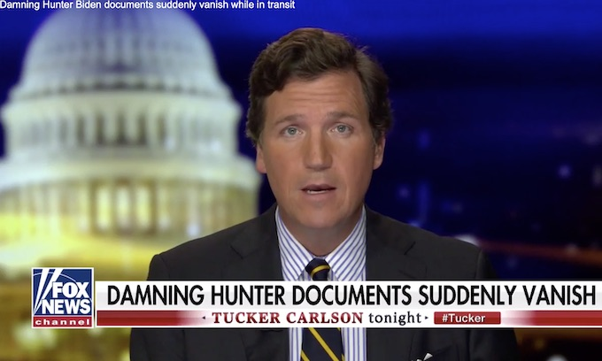 UPDATE: 'Damning' Hunter Biden documents mysteriously vanish in transit to Los Angeles, Tucker says