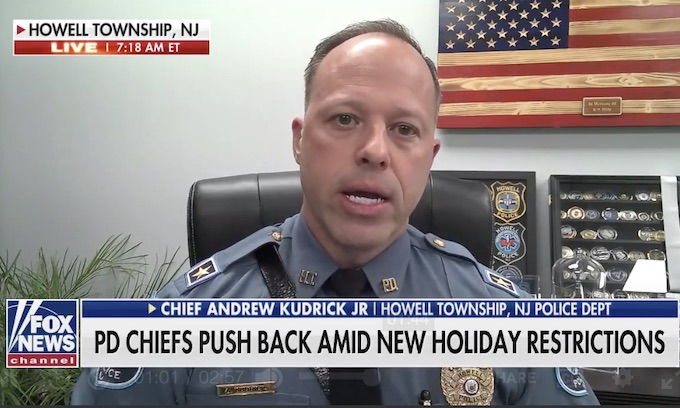 NJ Police chief refuses to enforce Murphy's draconian Thanksgiving orders