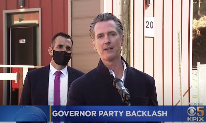 Do as he says, not as he does: Hypocrite Newsom goes to birthday dinner amid his Covid restrictions