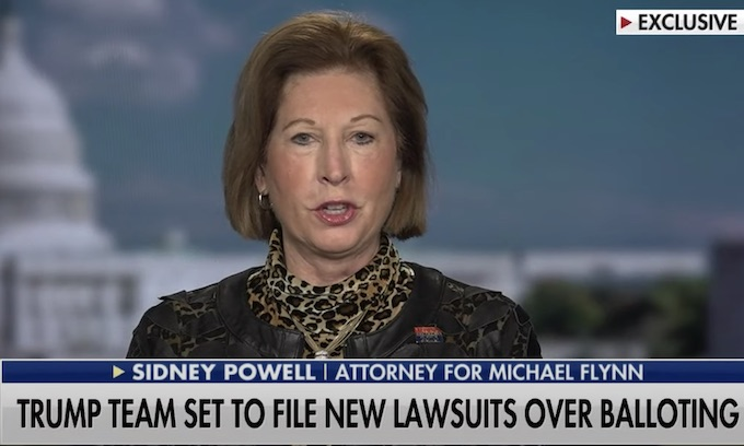 """Attorney Sidney Powell Drops Massive Bomb: """"We've Identified 450,000 Ballots That Miraculously Only Have a Vote For Joe Biden"""""""