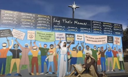 'An eye-opener.' Black Lives Matter protest part of Nativity scene at California church