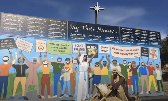 'An eye-opener.' Black Lives Matter protest part of Nativity scene at California church
