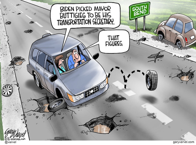 Potholes for President-select Biden