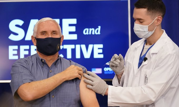 VP Mike Pence, second lady, surgeon general receive COVID-19 vaccine