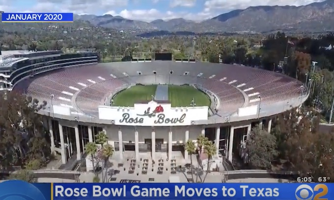 Rose Bowl Game Moves To Texas