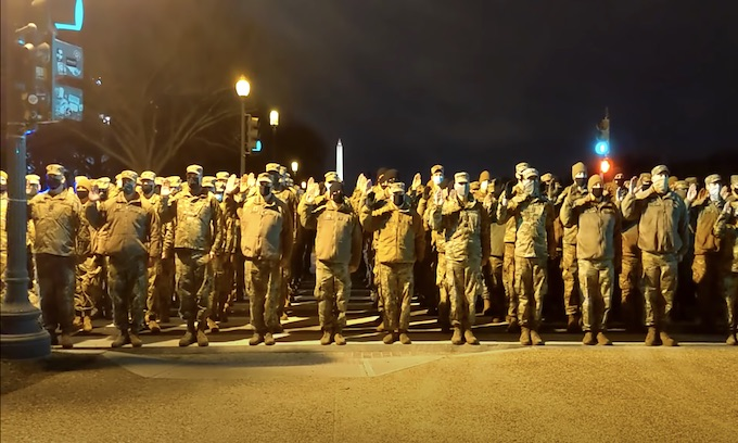 American troops in our capitol