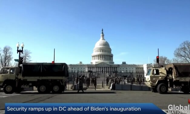 Eerie video shows Capitol warning message tested in desolate DC streets