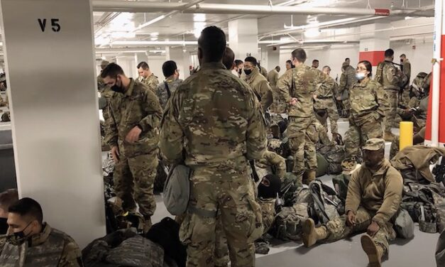 National Guard kicked out of Senate Office Building, relegated to parking garage