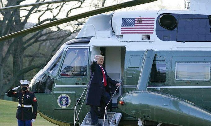 President Trump has left the White House