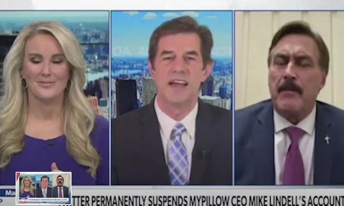 Updated: Newsmax anchor walks off set after trying to stop Mike Lindell talking about election fraud instead of Twitter censorship