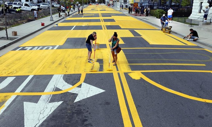 Hazard: City to spend $36K to pave over 'Black Lives Matter' painted on road