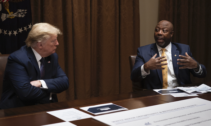 Donald Trump gives Sen. Tim Scott his 'complete and total endorsement' ahead of 2022 race