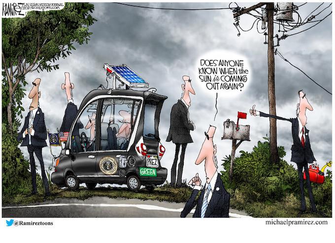 Green Golfing With Biden