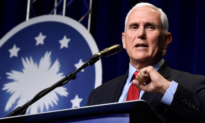 Eying 2024, Pence makes 1st speech since leaving office