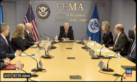 Biden went to FEMA yesterday but he had a little trouble