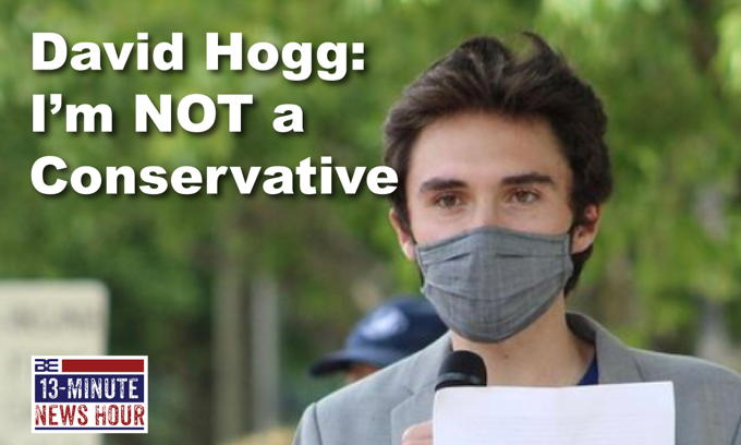 LIBERAL LOGIC? David Hogg's CRAZY Reason for Wearing a Mask