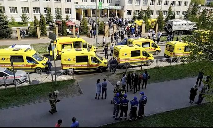 Russian school shooting in Kazan kills 7 students, 1 teacher