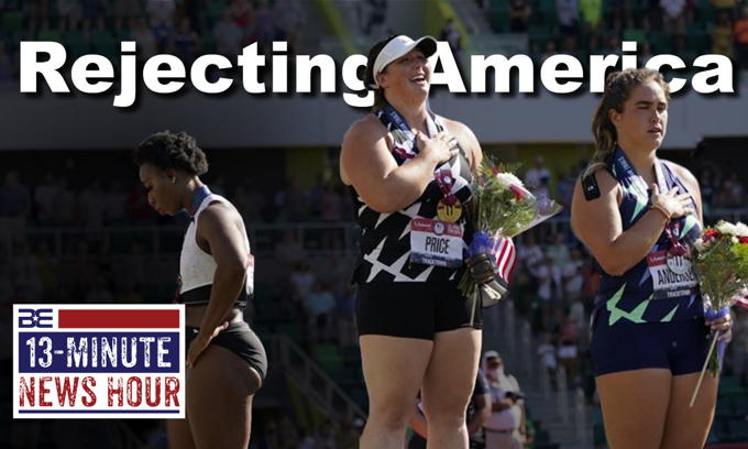 U.S. Olympian Gwen Berry REJECTS National Anthem