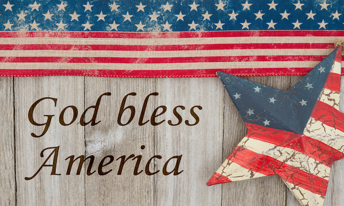 Condemning church-endorsed patriotism in greatest country ever