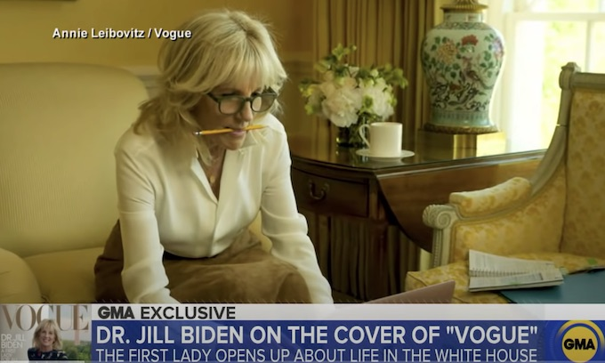 Jill Biden, 'Every Inch a Goddess'