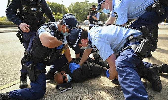 Hundreds arrested, fined during Australia lockdown protests