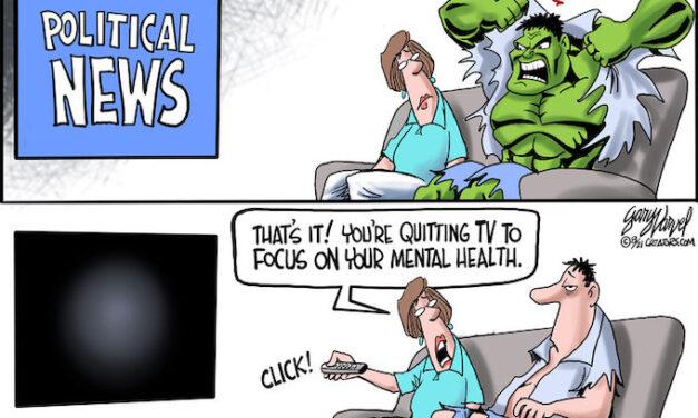 Watching CNN!