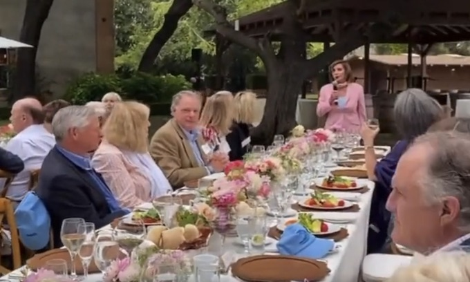 Hypocrites: Video shows hordes of maskless people at Pelosi fundraiser