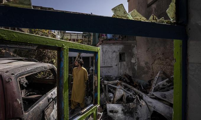 Pentagon admits that drone strike in Kabul killed an aide worker and 7 children, not terrorists