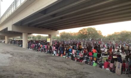 Haitian illegal aliens pour across the TX border; makeshift camp swells to 10,000