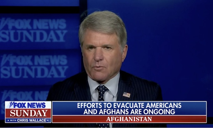 McCaul says Taliban not allowing rescue flights to depart Afghanistan; other sources blame US State Dept.