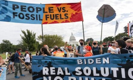 Climate activists riot against Biden's policies at the Capitol; attack police and security personnel